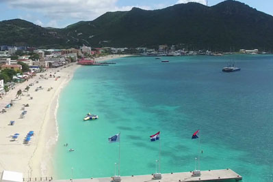 St Maarten shore excursion: island sightseeing tour by helicopter