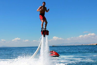 Fly board and beach